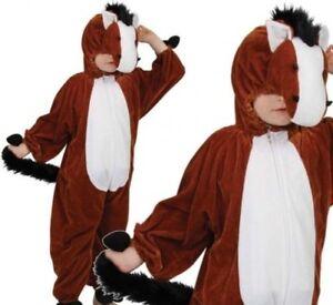 Horse Costume Kids Boys Girls Farm Animal Book Day Fancy Dress Sizes 3-13 Years