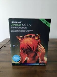 Brookstone wireless cat ear headphones color changing