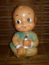 Vintage Baby Holding a Bottle Rubber / Squeaker Toy