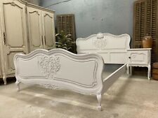 More details for vintage french king  bed/ french bed painted shabby chic style