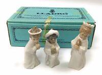 Lladro NATIVITY MINI FIGURINES ORNAMENTS THREE KINGS REYES Set #5729 Excellent