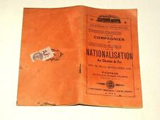 Livre Nationalisation chemin de fer Marcel BIDEGARAY 1919  Albert Thomas Train