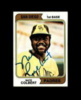Nate Colbert Hand Signed 1974 Topps San Diego Padres Autographed