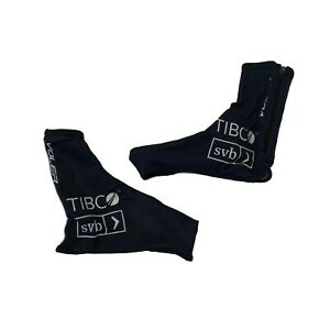 New 2020 Women's Voler Team Tibco Pro Cycling Shoe Covers, Navy, Size Small