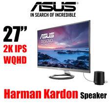 "ASUS Designo 27"" 2K WQHD IPS LED Monitor sRGB 100%25 DP HDMI SPK by Harman Kardon*"