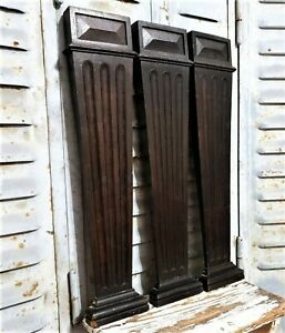 3 Victorian wall furniture applique column Antique french wooden salvaged decor