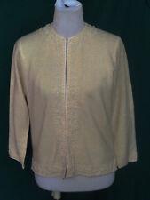 Vintage Beaded Cream Sweater Cardigan Stephen Lo Cashmere Angora 40