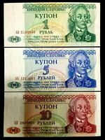 Transnistria 1 5 10 Rubles 1994 World Paper Money UNC Currency Bill Notes