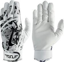 Nike Trout Edge Batting Gloves White/Black/Cool Grey Men's Large