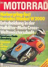 Motorrad 18 73 DKW RT 100 Hercules W 2000 Wankel Tomos MC 50 Deutschland 1973