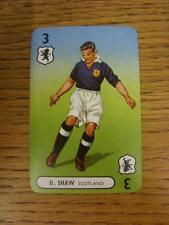 1947/1948 Pepys International Footballers: Scotland, Card No.03 - D Shaw. This i