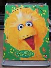 BIG BIRD wooden puzzle Sesame Street 1980s toddler PBS Mattel