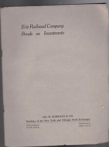 Erie Railroad Company Bonds as Investments 1911 Booklet