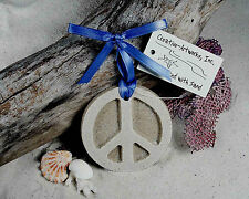 PEACE SIGN  Made with Sand Beach Ornament for the Hippy
