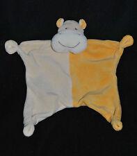 Doudou Hippopotame Plat PARADISE TOYS LIDL Vache Beige Jaune 4 Noeuds NEUF