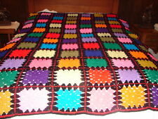 NEW Granny Square Handmade Crochet Afghan Throw Blanket ~ handcrafted bedspread