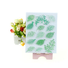 Vivid  Green Leaves Stamps DIY Scrapbooking Card Making Photo Album Decor ZP