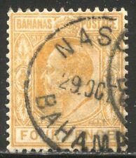 Bahamas #39 Used - 1902 4p Orange ($77)