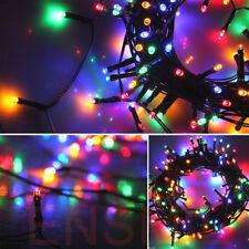 50 bunte LED Solar Lichterkette Kette Weihnachtsbaum NEU Garten Innen/Außen