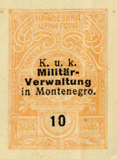 Montenegro c1914/17 fiscal stamp on part receipt (Q582)