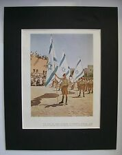 Print 1948 Israel Capture Nazareth From Arab Forces Bookplate 11x14 Matted
