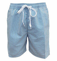 Soul Star Men's Splendor Striped Swim Shorts Blue / White