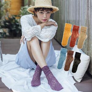 Femmes Souple Chaussettes Japonais Dentelle Lolita Déguisement Creusé Maille