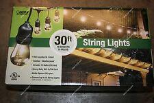 Feit Outdoor Patio / Deck String Light Set 30' x 10 sockets w/ bulbs