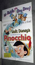 PINOCCHIO original 27x41 DISNEY one sheet movie poster