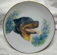 Vintage Rottweiler Dog Collector Plate Nr