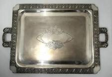 19c Barbour Quadruple Plate Service Tea Set Tray- Repousse Cherubs Putti