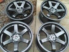 "18"" BOLA B1 GUNMETAL 5 STUD  SET OF 4 WHEELS Nissan SKYLINE 114.3 x 5, 9.5j et30"