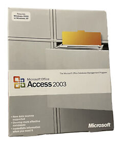 Microsoft Office Access 2003 Original Sealed Retail Package With Product Key NEW