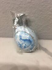 Patricia Breen Ornament Medium Blue Egg Neiman Marcus Spring Pair!