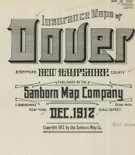 Dover, New Hampshire~Sanborn Map© sheets~25 maps made in 1912 in full color