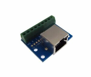 RJ45 Ethernet Connector  Breakout Board w/ LED Screw terminals