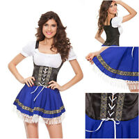 Sexy Womens Oktoberfest outfit Bavarian beer Ale Wench Maid Fancy Dress Costume