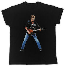 COOL GEORGE MICHAEL GUITAR UNISEX IDEAL GIFT BIRTHDAY PRESENT BLACK T SHIRT