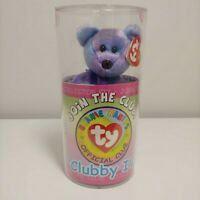 NEW SEALED KIT - Clubby IV Ty Beanie Baby Bear - MYSTERY BUTTON W/ TY SIGNATURE?