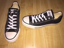 NEW CONVERSE ALL STAR OX WOMEN'S 8 MEN'S 6 BLACK  OFF WHITE VINTAGE LOOK