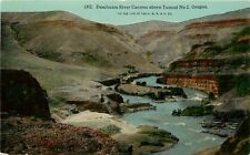 DB OR Postcard C925 Deschutes River Canyon above Tunnel No 2 OWR&N Line ca1912