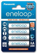 Panasonic Eneloop AA 4 BK-3MCCE min 1900 maH Rechargeable Batteries USA SELLER