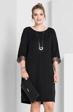 Kleid Gr.52 Abendkleid Festlich Cocktailkleid Damen knielang Spitze schwarz s