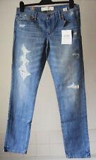 "BNWT~Abercrombie & Fitch Erin Skinny factory distressed jeans ~12R ~29""W X 33""L"