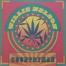 """WILLIE NELSON """"COUNTRYMAN"""" U.S. PROMO POSTER - Marijuana Pot Leaf Logo"""