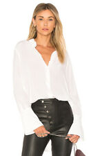NEW Equipment Rossi Silk Top Blouse Buttoned sides and sleeves White Size L