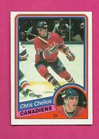 1984-85 OPC # 259 CANADIENS CHRIS CHELIOS  ROOKIE NRMT+ CARD (INV# D1847)