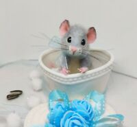 Needle Felted Mouse 'Liam' Animal Artist Teddy Mice Gift Ooak by Viktorija