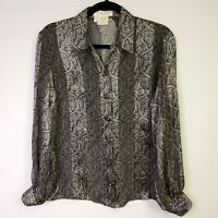 ESCADA Margaretha Ley 100% Silk Button Up Blouse Shirt Top Size 34, US Size XS 4