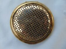 Vintage Stratton England Gold Tone Mesh Compact Make-Up